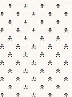 York Wallpaper - Skull Crossbone Spot - BT2824