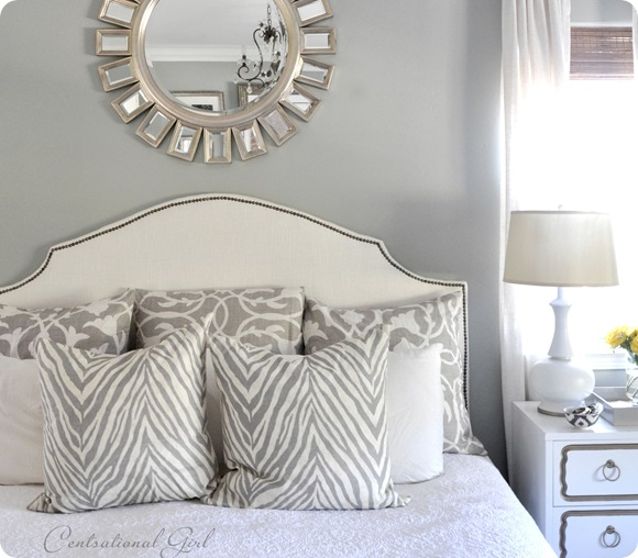 Grey Zebra Print - Bedroom Interior Decor