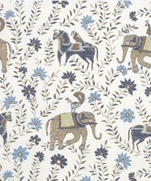Duralee Fabric John Robshaw - 21035-108 Blue Brown