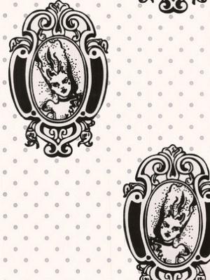 Winfield Thybony Wallpaper - Antoinette - Black/White WAM7253