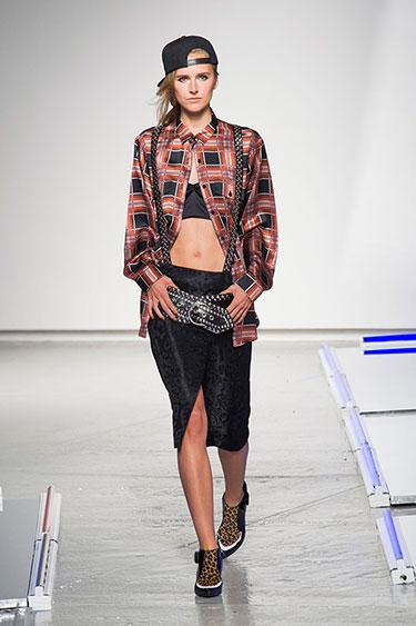 Plaid at Rodarte's Show at New York Fashion Week, Spring 2014