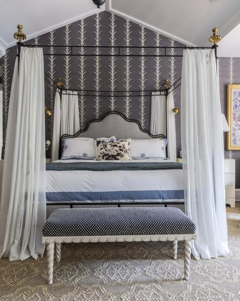 Celerie Kemble Hamptons Showhouse 2013 Block Print Schumacher