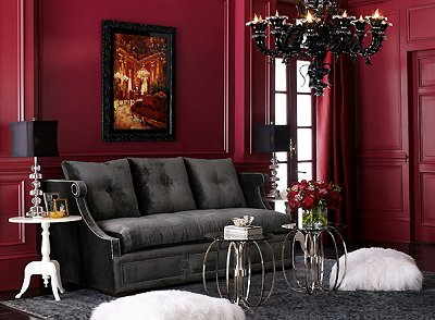 interior decor trends dark sophisticated sexy haloween inspired groundworks fabrics