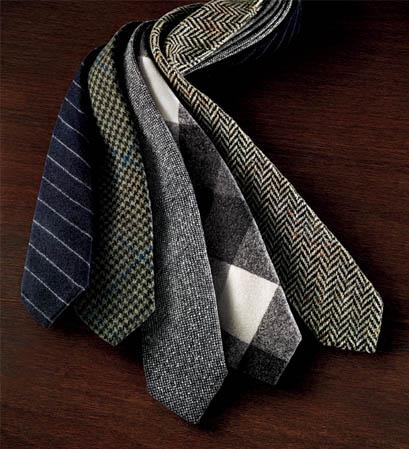 ties menswear fashion inspired checked herringbone