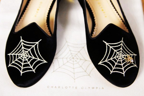 Spider Web Shoes from Olympia - Cool Halloween Inspired Accessories