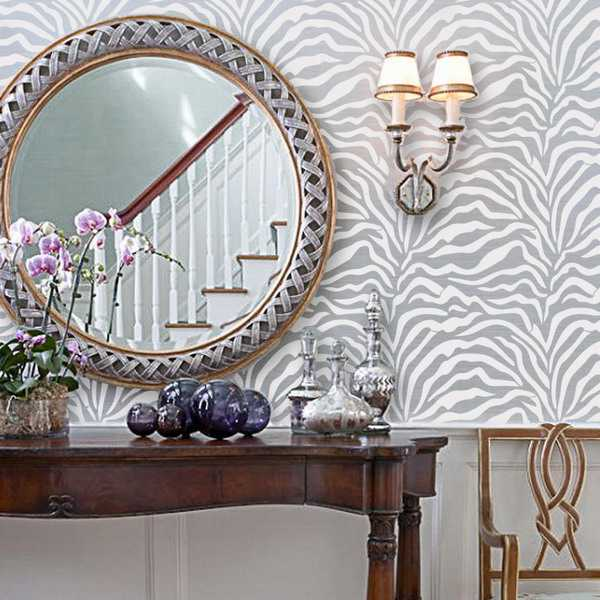 interior decor trends zebra skin wallpaper by york wallcoverings