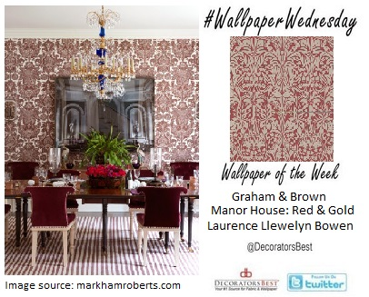 interior decor trends wallapaper wednesday damask dining room decor trends floral Graham & Brown