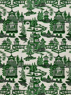 Schumacher Fabric - Nanjing - Jade 174432