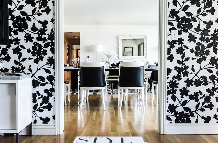 2013 decorating trend: black & white dining rooms   decoratorsbest
