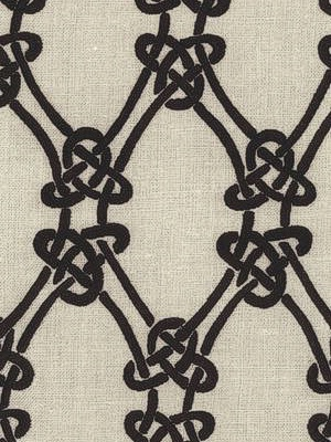 Schumacher Fabric - Gordian Weave - Ebony on Geige 2643920