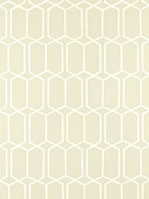 Schumacher Wallpaper - Modern Trellis - Alabaster 5003283