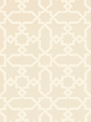 Schumacher Wallpaper - Cordoba - Flax 5005920