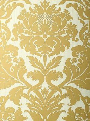 Schumacher Wallpaper - Fiorella Damask - Patina 529192