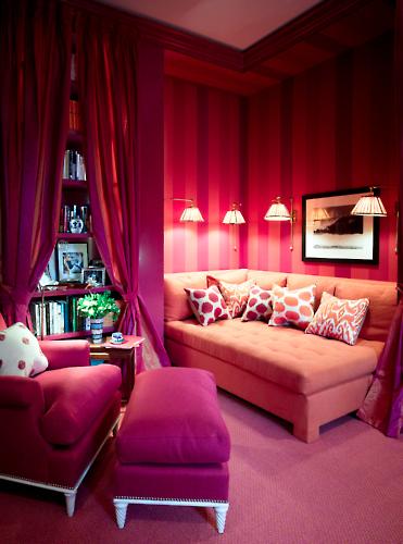 interior design decor trends wallpaper wednesday pink stripes monochrome stroheim & romann