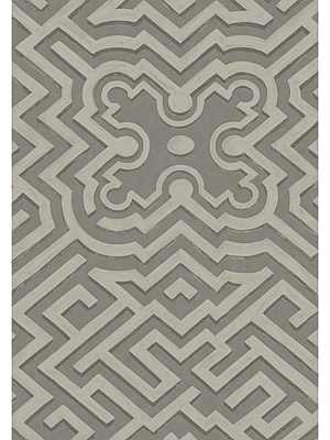 Cole & Son Wallpaper - Palace Maze - Dark Linen/Silver
