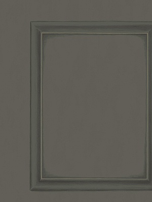 Cole & Son Wallpaper - Library Panel - Charcoal 98_7031_CS