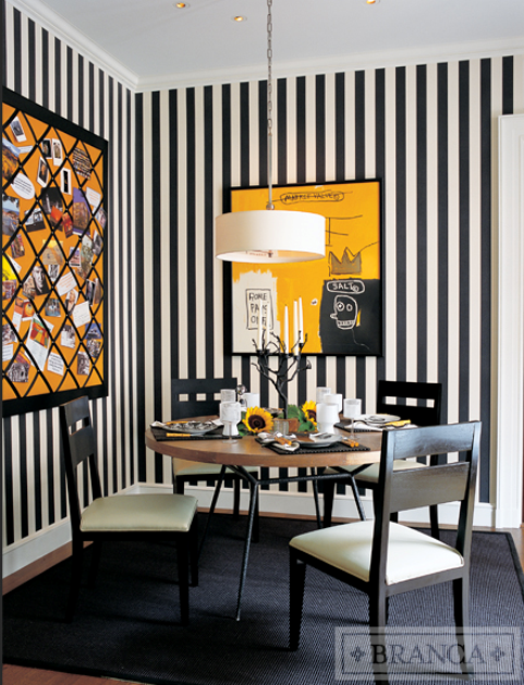 Alessandra Branca Black White Dining Room Decor