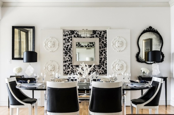 Black White Dining Room Decor