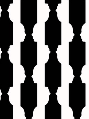 Graham & Brown Wallpaper - Reflection: Black & White by AphroChic GB 0039