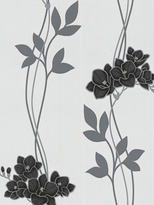 Graham & Brown Wallpaper - Serene: Black & White GB 30-256