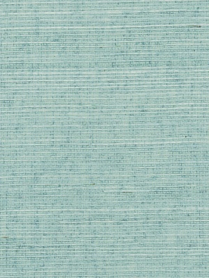 Phillip Jeffries Wallpaper - Manila Hemp - Silver Blue PJ 3438