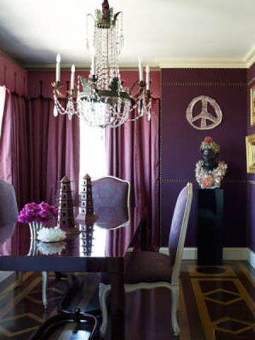 purple monochromatic room decor