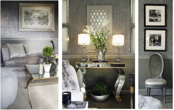 Silver Metallic Monochromatic Room Interior Decor