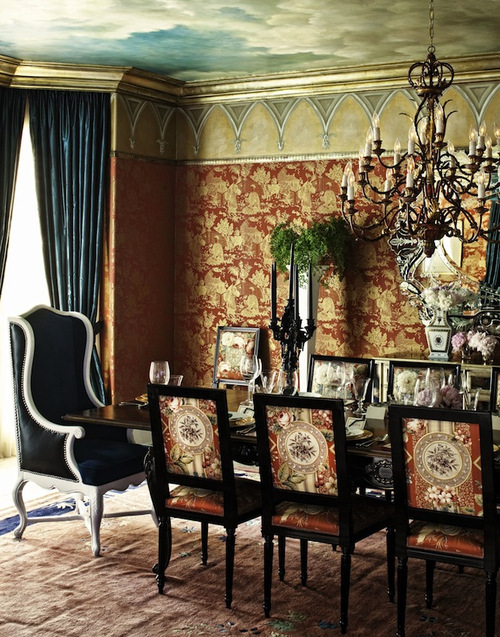 Club Chairs in Dining Room Decor Holidays