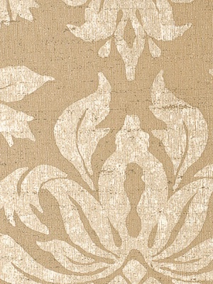 Winfield Thybony Wallpaper - Dimitri Damask - Suntan  WGA2513