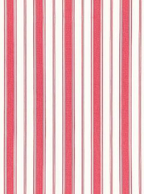 Schumacher Fabric - Branca Stripe - Rouge 68311