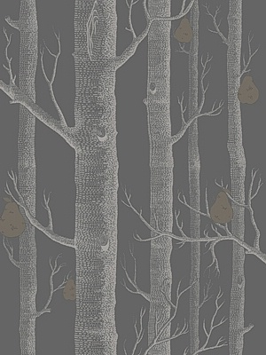 Cole & Son Wallpaper - Woods & Pears - Gilver/Black 95_5031_CS