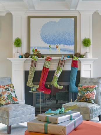Designer Fabric Stockings DIY Christmas Decor