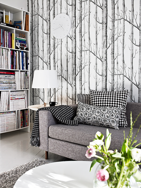 interior decor trends customer favorites cole and son woods onyx white wallpaper wednesday trends