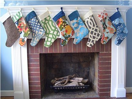 DIY Christmas Decorations - designer fabric stockings
