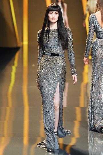 Ellie Saab Fall 2012 Runway Fashion Gilver Dress