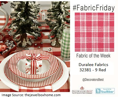 Holiday DIY fabric friday plaid checks red dining table decor inspiration design interior