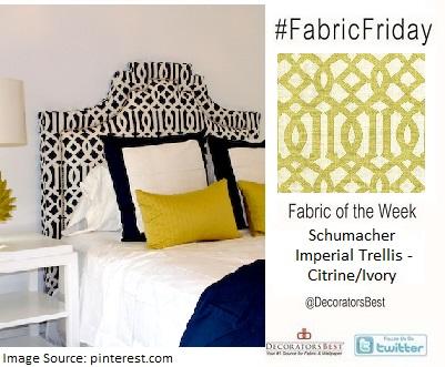 schumacher fabrics imperial trellis citrine headboard bedroom decor home design trends customer favorites