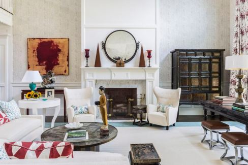 fireplace hamptons designer showhouse 2013 decor