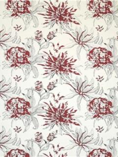Brunschwig & Fils Fabric – Hibiscus – Rojo