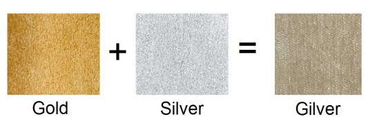 Gold + Silver = Gilver Swatches