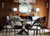 gold texture dining room interior decor