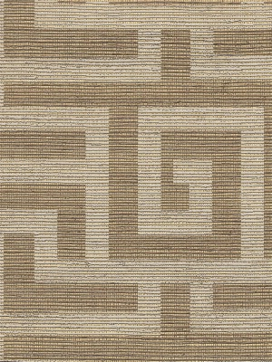 Clarence House Wallaper - Labyrinth - Brown Metallic