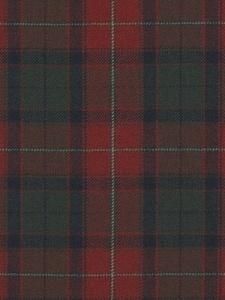 Ralph Lauren Fabric - Burrough Court Tartan - Red LFY29502F