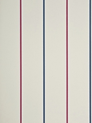 Baker Lifestyle Wallpaper - Tasie Stripe - Cherry/Denim/Buttermilk PW78016_3_0