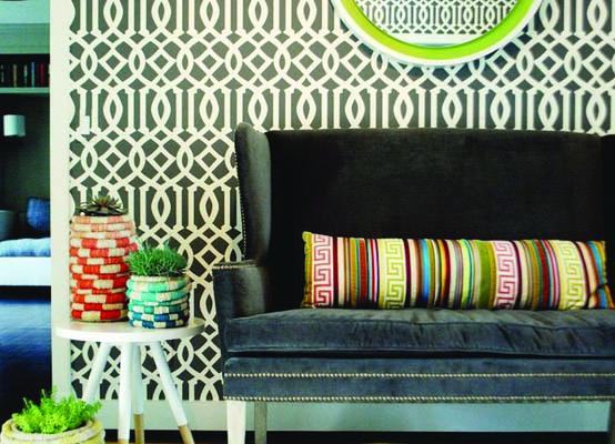 Schumacher Imperial Trellis Wallpaper Home Decor