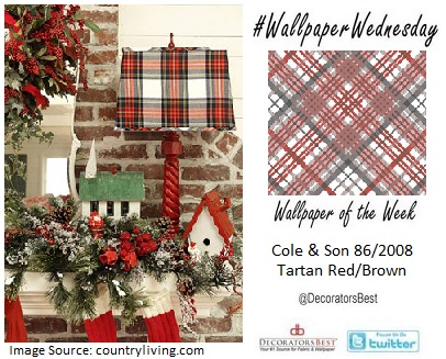 interior decor trends wallpaper DIY plaid tartan holiday season