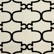 Duralee Fabric - 20948-295  Black White