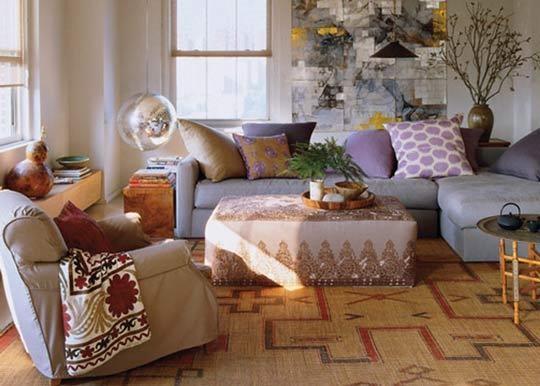Framed Ethnic Fabric - Global Interior Decor