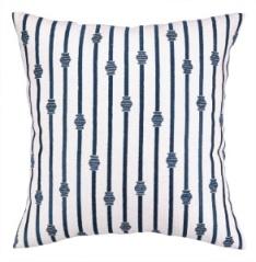 Peking Handicraft Pillow - Stripe Midnight on White