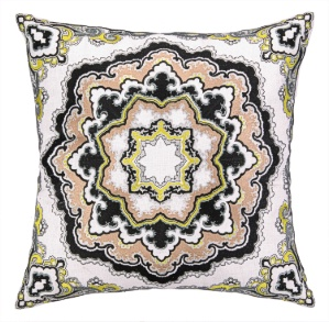 Nanette Lepore Paisley Medallion Neutral Embroidered Pillow Down Fill